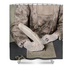 Writing Shower Curtain by Joana Kruse