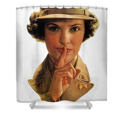 Wwii: Careless Talk Poster Shower Curtain by Granger