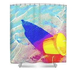 Yellow Pail Shower Curtain by Valerie Reeves