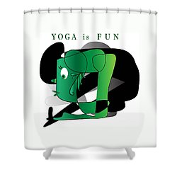 Yoga Shower Curtain by Iris Gelbart
