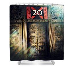 20 Exchange Place Art Deco Shower Curtain by Natasha Marco