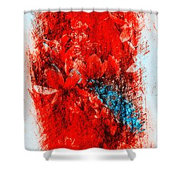 Magnolias In Crazy Abstract Shower Curtain
