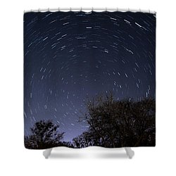Shower Curtain featuring the photograph 20 Minutes Of Star Movement by Todd Aaron
