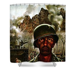 2000 Yard Stare Shower Curtain