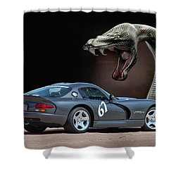 2002 Dodge Viper Shower Curtain