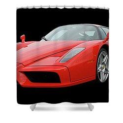 2002 Enzo Ferrari 400 Shower Curtain by Jack Pumphrey