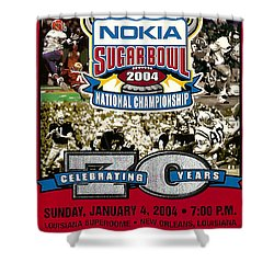 2004 National Championship Ticket - Lsu Vs Oklahoma Shower Curtain by David Patterson