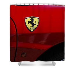 2007 Ferrari F430 Spider F1 Shower Curtain by Jill Reger