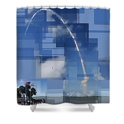 2008 Space Shuttle Launch Shower Curtain