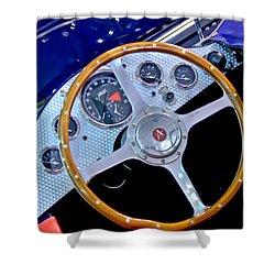 2010 Allard J2x Mk II Commemorative Edition Steering Wheel Shower Curtain by Jill Reger