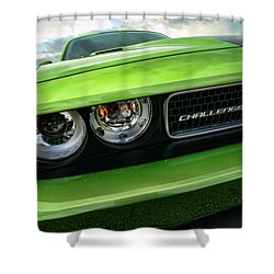 2011 Dodge Challenger Srt8 Green With Envy Shower Curtain by Gordon Dean II