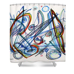 2013 Abstract Drawing #12 Shower Curtain