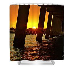 2013 First Sunset Under North Bridge 2 Shower Curtain