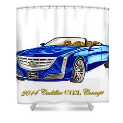 2014 Cadillac Ciel Concept Shower Curtain by Jack Pumphrey