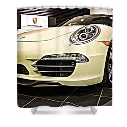 2014 Porsche 911 50th Front Shower Curtain