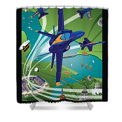 2014 Usna Commissioning Week Shower Curtain