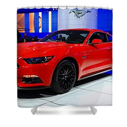 2015 Mustang In Red Shower Curtain