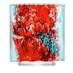 Magnolia In Abstract Shower Curtain