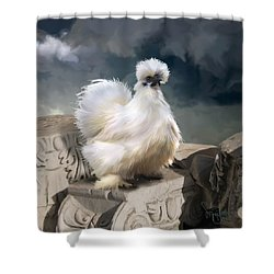 21. Silkie Akropolis Shower Curtain