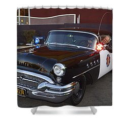 2150 To Headquarters Shower Curtain by Tommy Anderson
