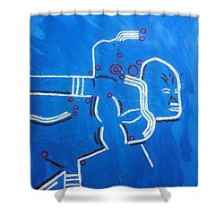 Dinka Lady - South Sudan Shower Curtain by Gloria Ssali