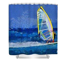 Windsurfing Shower Curtain