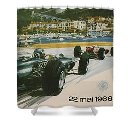 24th Monaco Grand Prix 1966 Shower Curtain by Georgia Fowler