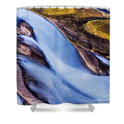 Aerial Photo Shower Curtain