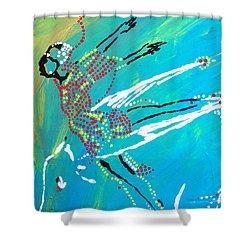 Dinka Dance - South Sudan Shower Curtain by Gloria Ssali