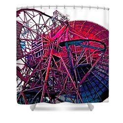 26 East Antenna Abstract 4 Shower Curtain