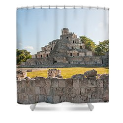 Edzna In Campeche Shower Curtain by Carol Ailles