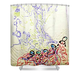 Wise Virgins Shower Curtain by Gloria Ssali