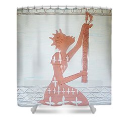 The Wise Virgin Shower Curtain by Gloria Ssali