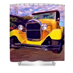 '28 Ford Pick Up Shower Curtain by Michael Pickett