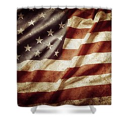 American Flag 53 Shower Curtain