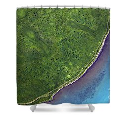 Iceland Aerial Photo Shower Curtain