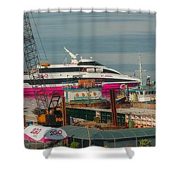Shower Curtain featuring the photograph 2go Travel by Ester  Rogers