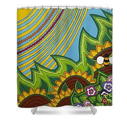 Sunflowers Shower Curtain by Rojax Art