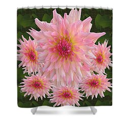 Abstract Flower Floral Photography And Digital Painting Combination Mixed Media By Navinjoshi       Shower Curtain