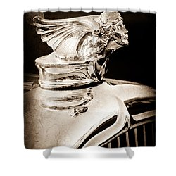 Shower Curtain featuring the photograph 1927 Buick Goddess Hood Ornament by Jill Reger