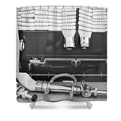 1952 L Model Mack Pumper Fire Truck Shower Curtain by Jill Reger