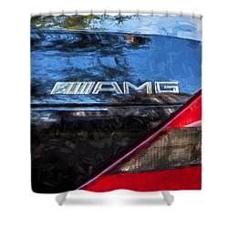 2006 Mercedes Benz Sl55 V8 Kompressor Coupe Painted  Shower Curtain by Rich Franco