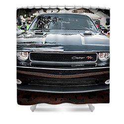 2013 Dodge Challenger  Shower Curtain by Rich Franco