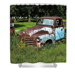 Shower Curtain featuring the photograph '48 Chevy by Paul Mashburn