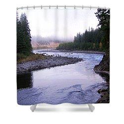 A Mountain Stream Shower Curtain by J D Owen