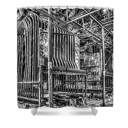 Abandoned Steam Plant Shower Curtain