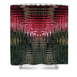 Abstract 117 Shower Curtain by J D Owen