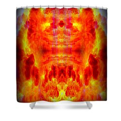 Abstract 70 Shower Curtain by J D Owen