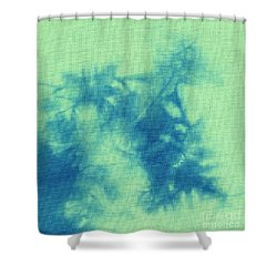 Abstract Batik Pattern Shower Curtain by Kerstin Ivarsson