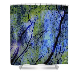 Abstract Forest Shower Curtain by France Laliberte